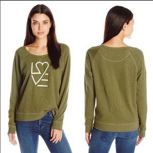 Life Is Good, LOVE, embroidered sweatshirt, 2XL